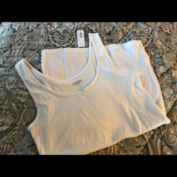 Old Navy Tops - NWT Old Navy White Long Layering Tank Large